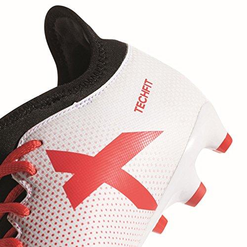 adidas Herren X 17.3 FG Fußballschuhe, Weiß ftwr white/real coral s18/core black