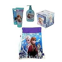 Disney Frozen Girls Bathroom Accessory Beauty Set Plus Bonus Disney Frozen Over The Shoulder Sling Bag! Featuring Princess Elsa, Anna & Olaf! by Ruz