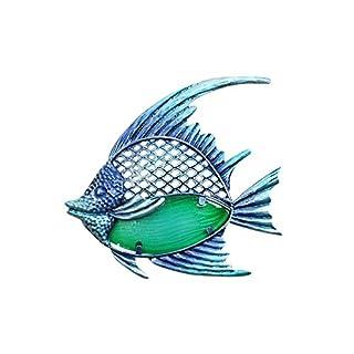 Art Deco Home - Wanddeko Fisch, Metall, 22 cm - 13000SG