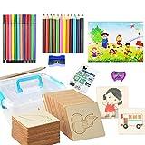 Joyibay Set stencil da disegno Kit stencil da disegno in legno fai da te Stencil per pittura per bambini