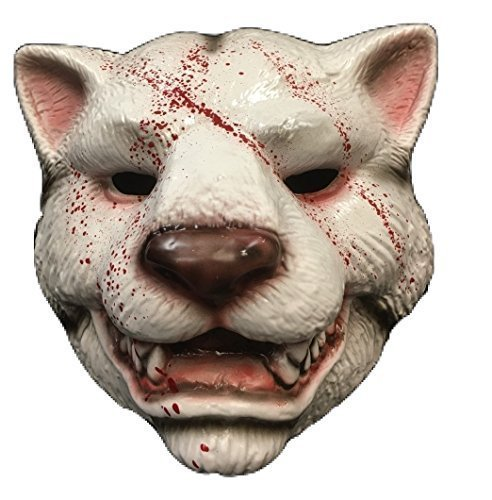 (You're Next - Tiger Blood Style Maske - Horrorfilm - Hartplastik Maske - universell mit elastischer band)