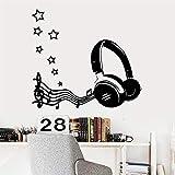 ZRSCL Modern Listen to Music Protezione ambientale Adesivi in   vinile Adesivi murali per camerette Decorazioni per la casa Wallpaper58CMX63CM