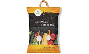 Trust Basket Enriched Organic Earth Magic Potting Soil Mix Fertilizer For Plants 5Kg