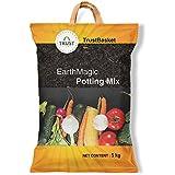 Trust Basket Enriched Organic Earth Magic Potting Soil Mix Fertilizer For Plants 5Kg