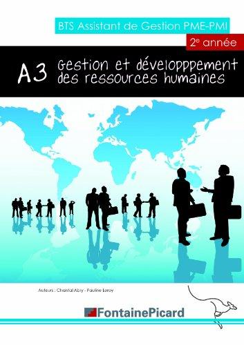 Gestion et développement des ressources humaines A3 BTS AG PME-PMI : 2e année