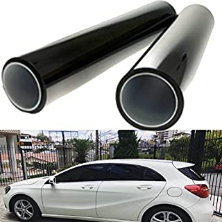 AUTOOL 2pcs Children's Window Shades 50*100CM Black Car Window UV Protection Adhesive Tint Film Sun Shade Wrap Sticker 8% VLT Tinting for Pet & Baby Protection Rear Car Window Sun Shades
