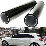 Autool 2pcs Tende di Finestra per Bambini 50* 100cm nero finestra di auto protezione UV Adesivo film di tintura di film adesivo Ombra solare 8% VLT polarizzatore per protezione da animali