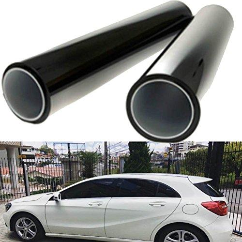 autool 2pcs Auto-Fenster-Vorhänge für Kinder 50* 100cm schwarz Fenster Schutz-Aufkleber Film UV-Tint Film Klebeband Schatten Solar 8% VLT Polarisation Schutz für Haustiere