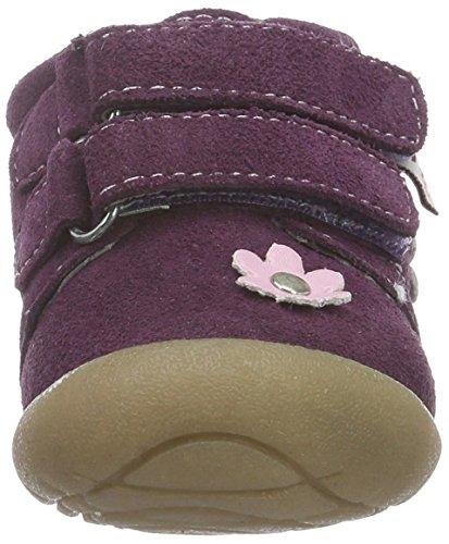 Rose & Chocolat Baby Mädchen Suede Flower Lauflernschuhe Violett (Suede Flower Purple)