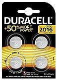 Pile bouton lithium Duracell spéciale 2016 3V, pack de 4 (DL2016/CR2016), conçue pour une utilisation dans les porte-clés, balances et dispositifs portables et médicaux
