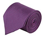 #9: Modo Formal Ties For Men, Geometric Purple Extra Slim Tie