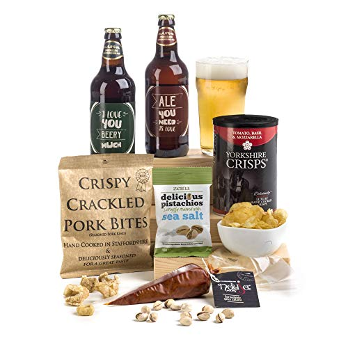 Say I Love You Beery Much- Beer & Nibbles Hamper Box Fun Pun Labels for Him