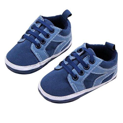 BZLine® 1 Paar niedliche Baby Schuhe Kleinkind weiche Sohle Schuhe Sneaker Dunkelblau