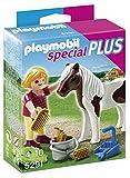 PLAYMOBIL Especiales Plus - Niña con Poni, Muñeco y Figura, Multicolor, 10 x 3,5 x 12,5 cm, (5291)