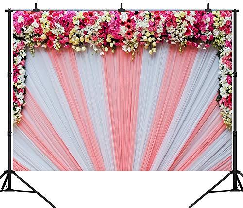 Joneaj 2,1x 1,5m Seamless rosso tenda motivo floreale panno Custom vinyl fotografia sfondo sfondo studio puntelli PGT065A