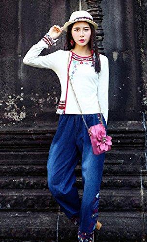HYLM Damen Mini Taschen Handy Taschen Ketten Strass Blumen Schultertasche / Messenger Münze Geldbörse rose red