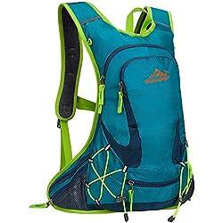 Skytower 20L bicicleta casco de equitación mochila baloncesto neto bolsa mochila Camping mochila viaje mochila montaña Top Casual mochila escolar mochila para deportes al aire libre, verde