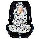 - Copertina universale in cotone avvolgente neonato per ovetto, seggiolino auto, Maxi Cosi, passeggino e coprigambe per carrozzina SWADDYL (Punto)