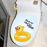 Wopeite Wc coperchio adesivi No colla anatra gialla sedile fai da te copertura Decor nuoto giro rimovibile decorazione animali per bagno wc