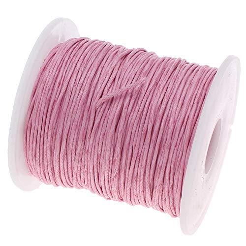 My-Bead Waxschnur Baumwollschnur gewachst 1mm 90m rosa Top Qualität Schmuckherstellung basteln DIY -