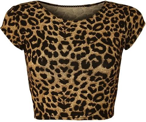 WearAll - Femmes Animaux Zebra impression monochrome Cap manches Gilet Crop Haut - Animaux - 36-38