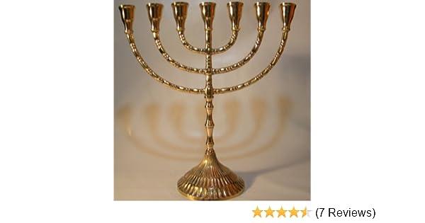 Amazon jüdischer kerzenleuchter menorah messing chanukka