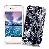 Coque iPhone 4/4S XiaoXiMi Etui en Marbre Texture Housse de Protection Soft TPU...