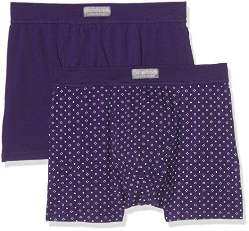 abanderado Herren Boxer Asa5378, 2er Pack Violett