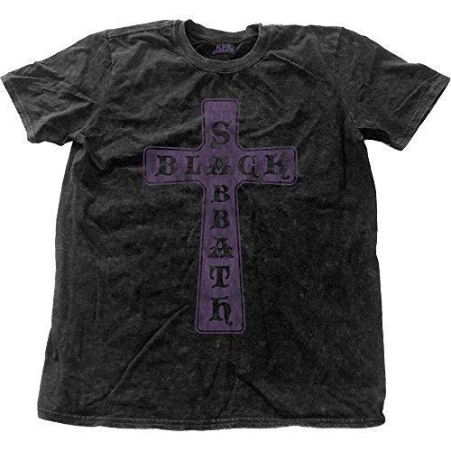 Black Sabbath Herren T-Shirt Vintage Cross schwarz (Butler-shirt Black Für Herren)