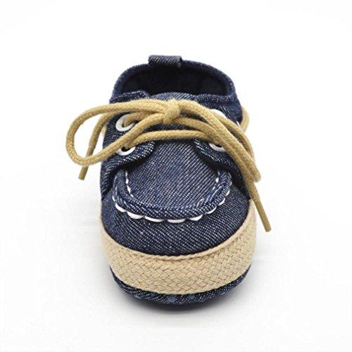 Koly_Scarpe Kid suola molle della scarpa da tennis del bambino Dark Blue
