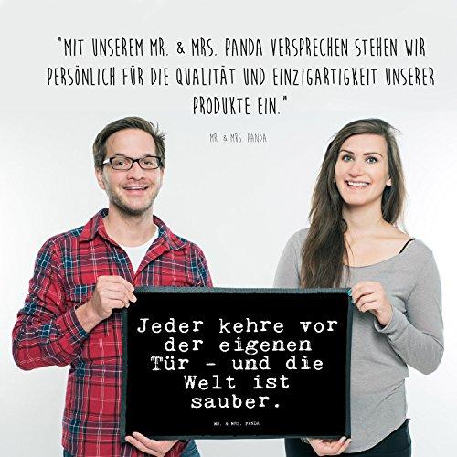 """Fußmatte  – Goethe Zitat  """"Jeder kehre vor der eigenen Tür """" - 5"""