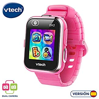 VTech 193857 Kidizoom Smart Watch DX2 – Reloj inteligente para niños con doble cámara, color rosa