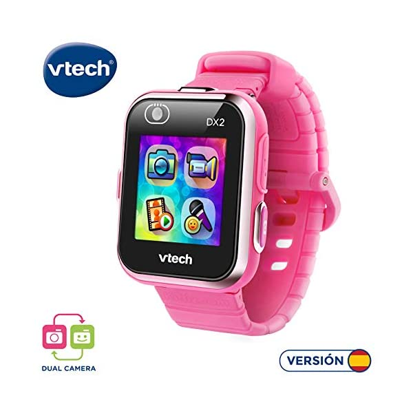 VTech 3480-193822 Kidizoom Smart Watch DX2 - Reloj inteligente para niños con doble cámara, color azul 1