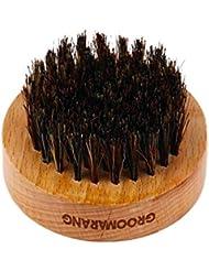"""Luxuriöser Bartpinsel """"'O' Boar"""" aus Wildschweinborsten von Groomarang, perfektes Pflegegeschenk für Männer"""