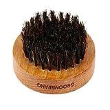 Groomarang Luxury 'O' Boar Bristle Beard Brush Perfect Mens Grooming Gift