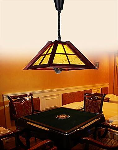 BRIGHTLLT Chinesische antike Aufzug lampe Kronleuchter restaurant Teleskop mahjong Zimmer von Schach und Karte, Balkon Freizeit Club, 400*h 400 mm Lampe