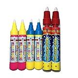 Healifty 6Pc Magic Water Drawing Pen per Bambini Aqua Doodle Disegno stuoia Libro Acquatico
