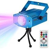 Lixada Mini Disco Luz, 9W RGBW Color que Cambia la Luz de Escenario LED, Efecto de Onda de Agua, con Sonido de Control Remoto Activado perfecto para Disco KTV Club Fiesta Entretenimiento en el Hogar
