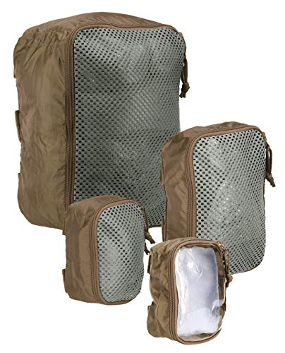 Tasmanian Tiger TT Modular Pouch Set Molle-kompatible Organizer Rucksack Zusatz-Taschen Set in 3 Größen mit Klett-Rückseite, Coyote Brown