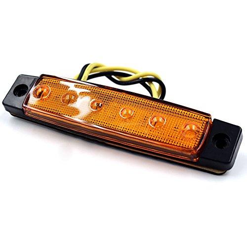 Amarillo VIGORFLYRUN PARTS LTD 10x LED Luces Laterales del Marcador Luz de G/álibo para 12V 24V Remolque Camioneta Caravana Cami/ón Cami/ón Autob/ús SUV