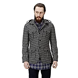 Bareskin Mens Coat (VNGWJ-115_M_Black/Grey_Medium)