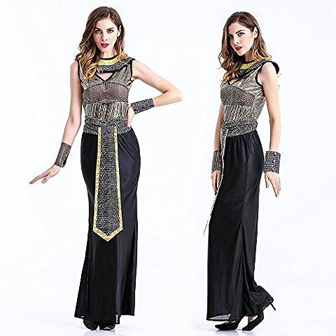 crazysell Halloween Erwachsene Ägypten Queen Zombie Braut Corpse Bloody Bräutigam Kostüm Hochzeit Kleid für Frauen (Monster Bride Kostüm Make-up)
