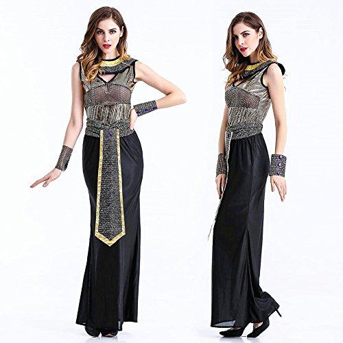 crazysell Halloween Erwachsene Ägypten Queen Zombie Braut Corpse Bloody Bräutigam Kostüm Hochzeit Kleid für Frauen (Reaper Braut Kostüme Erwachsene)