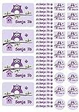Mein Zwergenland Namensaufkleber Heftaufkleber Etiketten Sticker Stickerbogen Happy Eule