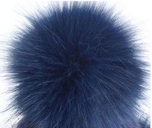 Mme Fourrure D'hiver épaisse Balle De Curling En Tricot Couverture Chapeau gray