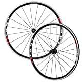 Shimano WH-R501 Wheel Set Black with Red Sticker