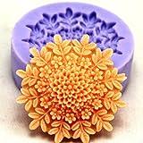 Aliciashouse F0127silicone del fiore della torta muffa del sapone del cioccolato fondente Mould