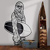 Liwendi Sticker Mural Surf Star Wars Art Déco Mural Star Wars Chambre Design Art Vinyle Autocollant 42 * 69Cm