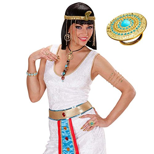Amakando Cleopatra Ring Ägyptischer Fingerring Ägypten Fingerschmuck Göttin Goldschmuck Antike Damenring Pharaonen Finger Schmuck