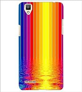 PrintDhaba Colour Design D-2296 Back Case Cover for OPPO F1 (Multi-Coloured)